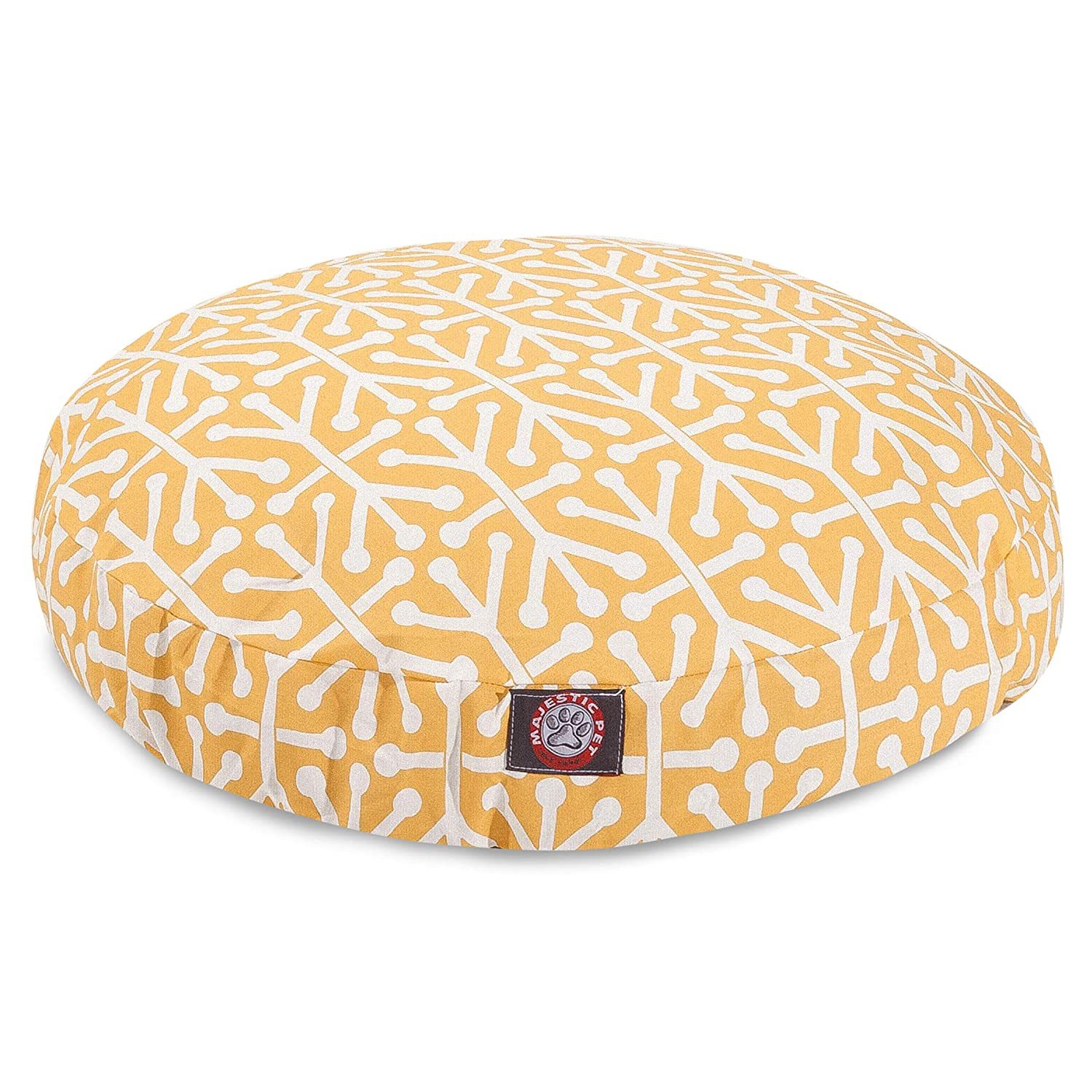 Citrus Aruba Medium Round Indoor Outdoor Pet Dog Bed with Removable Washable Cover by Majestic Pet Products