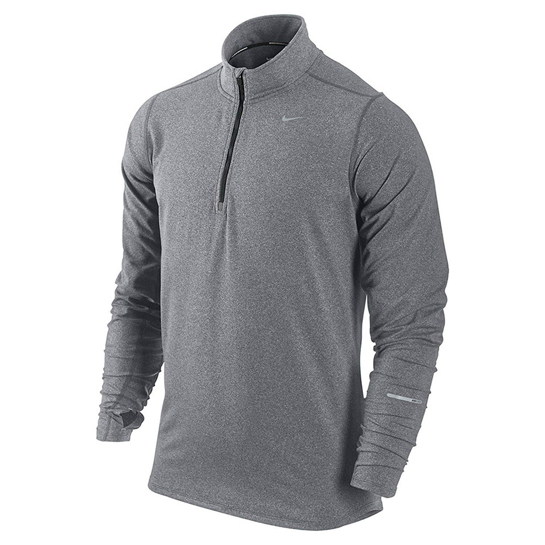 NIKE Men's Dry Element Running Top B074575BFS Medium Grey