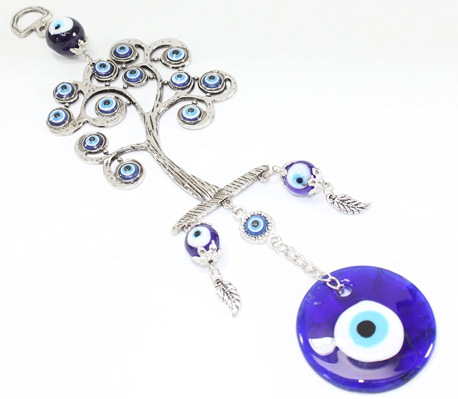 Amazon.com: Turkish Blue Evil Eye (Nazar) Life Tree Amulet Wall Hanging Home  Decor Protection Blessing Gift US Seller: Home U0026 Kitchen