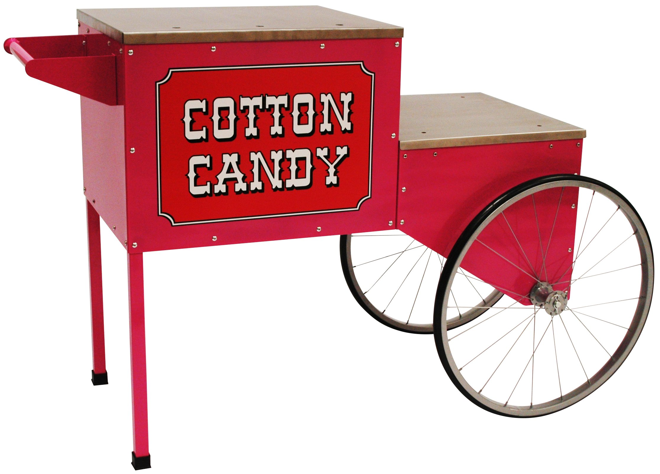 Benchmark USA 30090A Trolley for Cotton Candy Machine, Powder-Coated and Stainless Steel, Pink