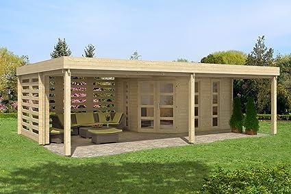 Carlsson Massivholz Garten Blockhaus Panama 40 Mit Boden Holz