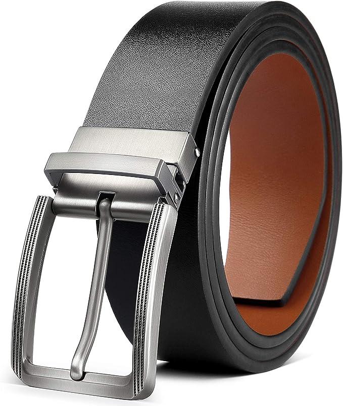 Cintura Uomo in Pelle intrecciata ITALY Cinta Elegante Nera Marrone 120 130 cm