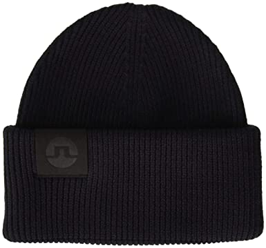 bbbe7f323143a5 Amazon.com: J.Lindeberg Men's Merino Wool Beanie, black One Size ...