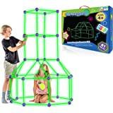 Fun Forts Glow Kids Tent for Kids - 81 Pack STEM Toys Glow in The Dark Fort Building Kit, Building Toys Play Tent Indoor…
