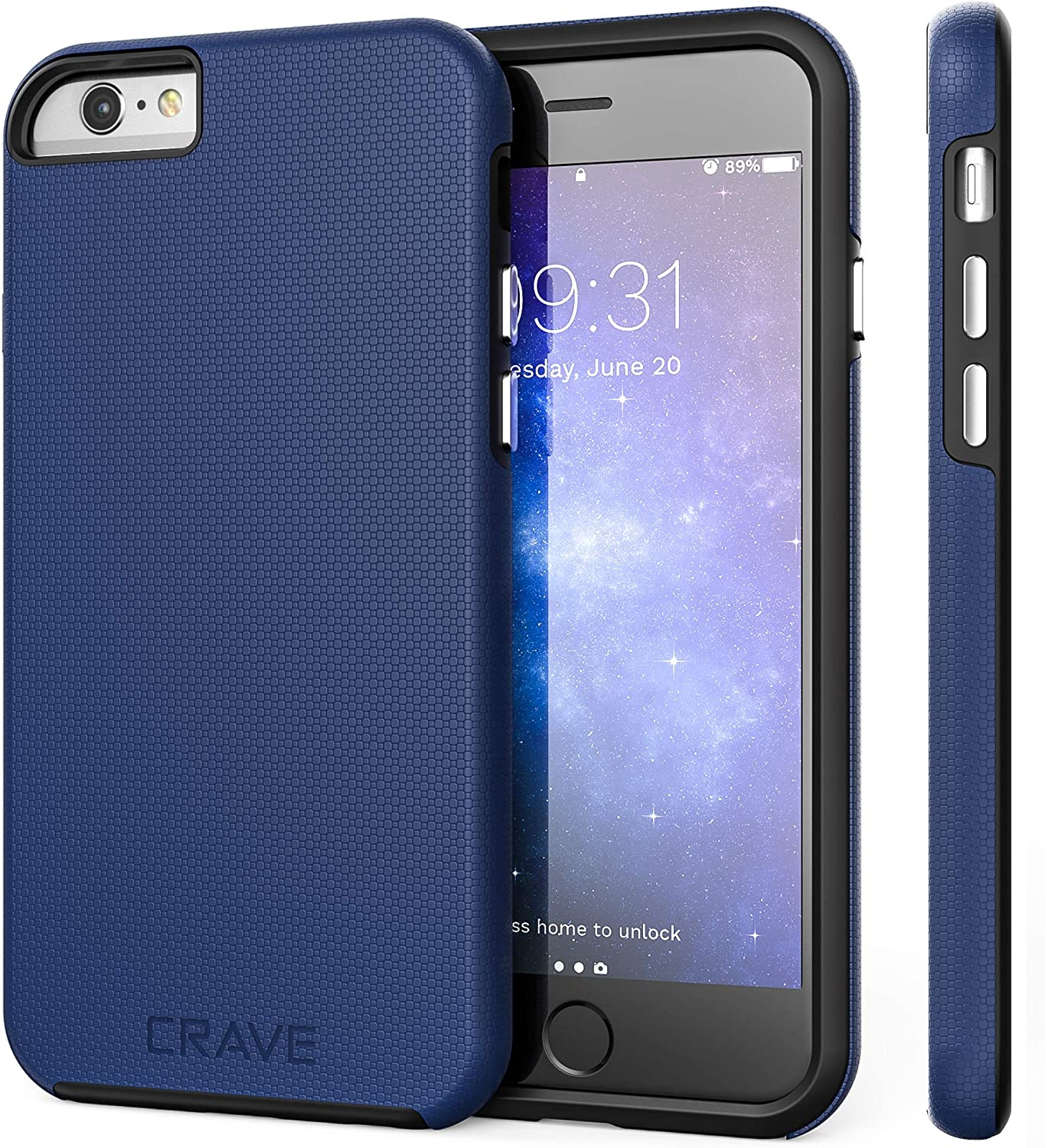 iPhone 6 Case, iPhone 6S Case, Crave Dual Guard Protection Series Case for iPhone 6 6s (4.7 Inch) - Navy Blue