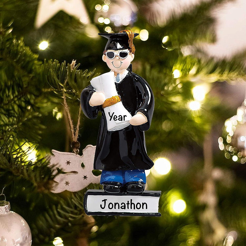 2021 Christmas Ornaments Guys Amazon Com Graduation Guy 2021 Christmas Ornament Personalized Ornaments For Christmas Graduation School And Teacher Ornament Personalized Christmas Ornaments 2021 Custom Christmas Ornament Kitchen Dining