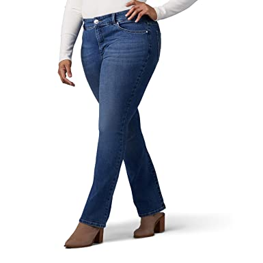 c5cd468f LEE Women's Plus-Size Sculpting Slim Fit Bootcut Jean at Amazon Women's  Jeans store