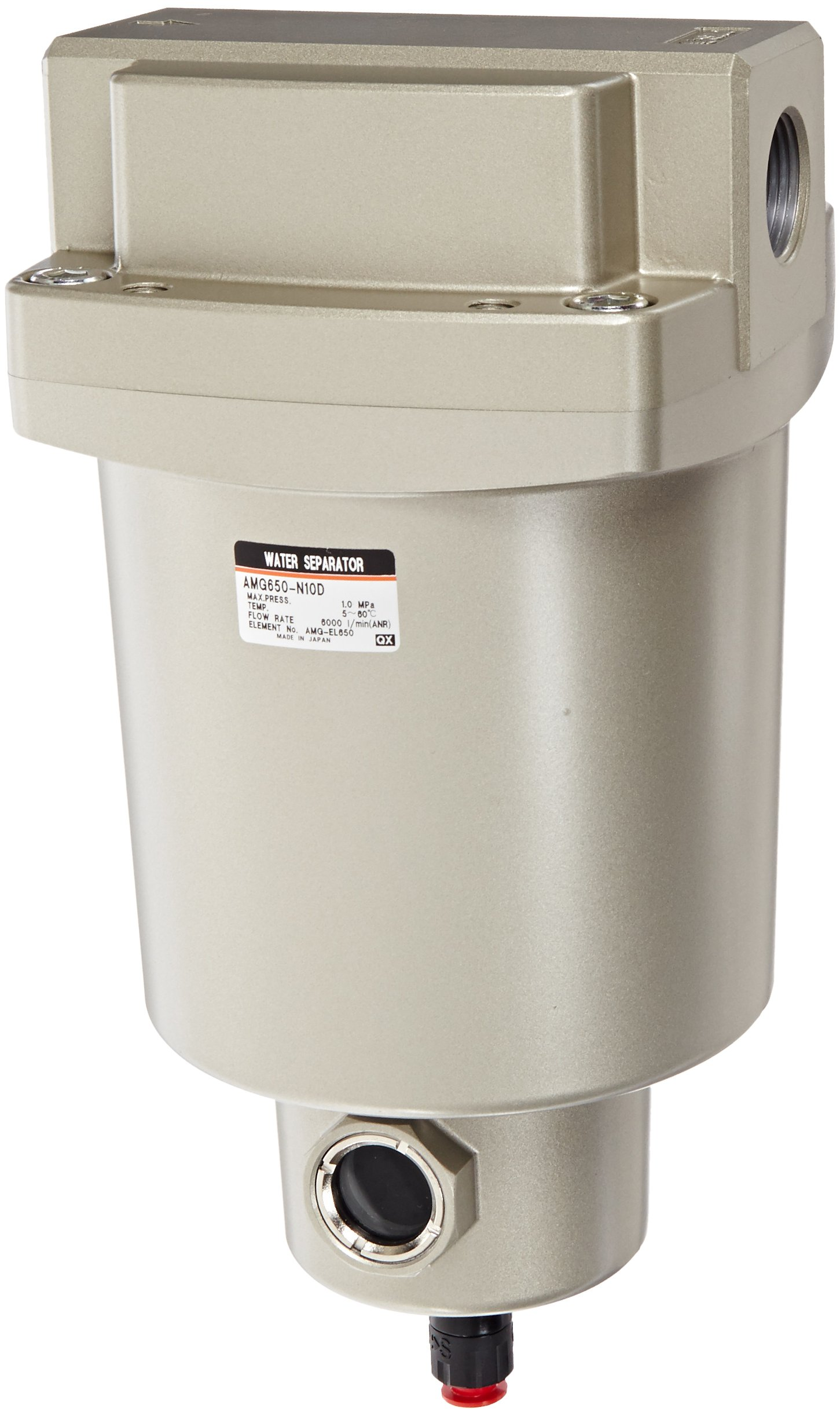 SMC AMG650-N10D Water Separator, N.O. Auto Drain, 6,000 L/min, 1'' NPT by SMC