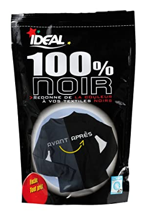ideal 33212300 teinture noir 100 - Colorant Vetement