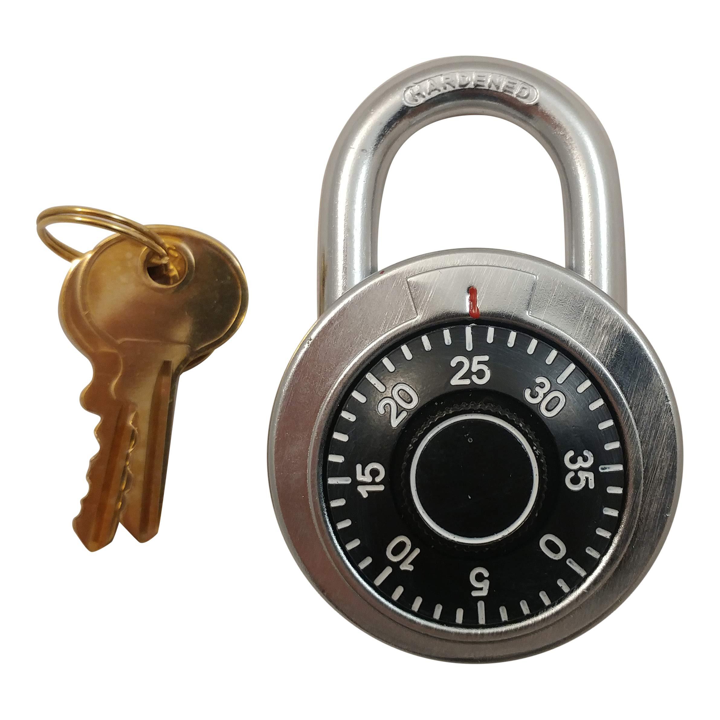 Combination Locks with Single Override Control Key Padlocks Ideal for Lockers [946-10] - Set of 10 Candados de Combinacion by Madol (Image #4)
