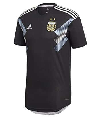 bef9f3f7801 adidas Argentina Away Authentic Soccer Jersey World Cup 2018 (Small) Black