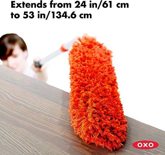 OXO Good Grips Spazzola Estensibile in Microfibra per Eliminare la Polvere