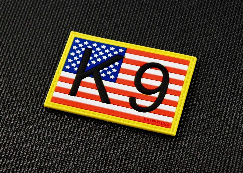 K9 US Flag 3D PVC Morale Patch Full Color Patriot Stars /& Stripes America