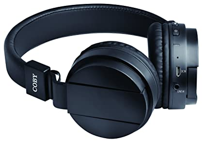 b6d63526dc8 Amazon.com: Coby CHBT-608-BLK Flex Bluetooth Headphones with Built ...