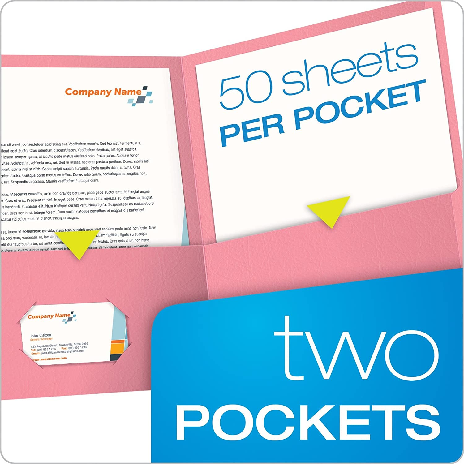 Amazon.com : Oxford Twin-Pocket Folders, Textured Paper, Letter Size ...