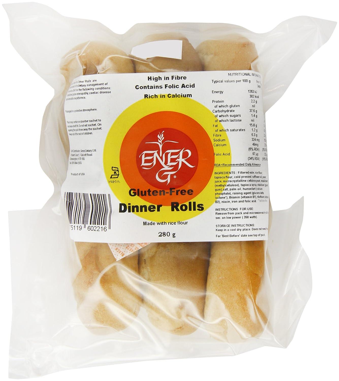 Ener-G Foods Tapioca Dinner Rolls, 9.88-Ounce Packages (Pack of 6)