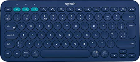 Logitech K380 Teclado Inalámbrico Multi-Dispositivos para Windows, Disposición QWERTY Inglés Reino Unido, Azul