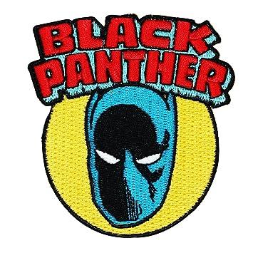 amazon com retro marvel black panther superhero 3 x3 logo sew rh amazon com black panther marvel logo patch Black Panther Marvel Coloring Pages