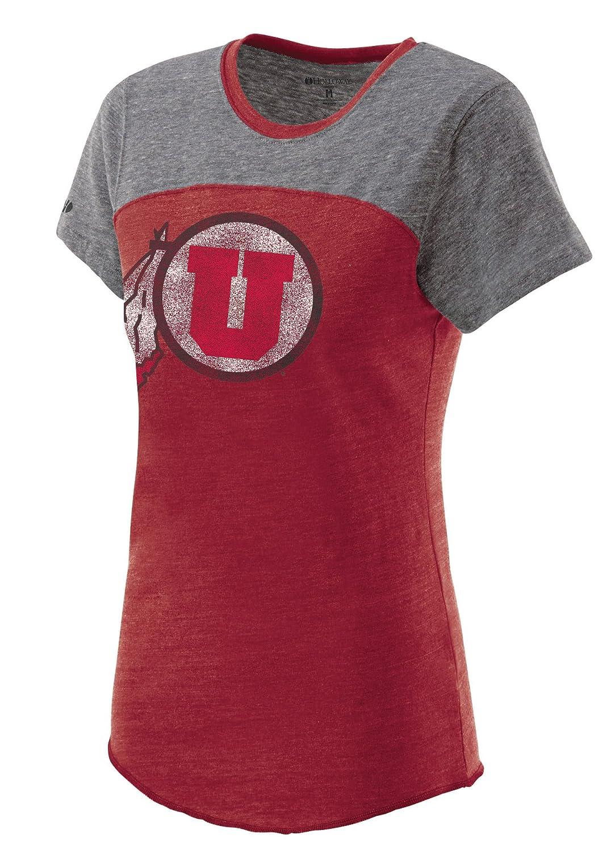 Ouray Sportswear NCAA Utah Utes Womens Enthuse Shirt Vintage Scarlet//Vintage Grey Small