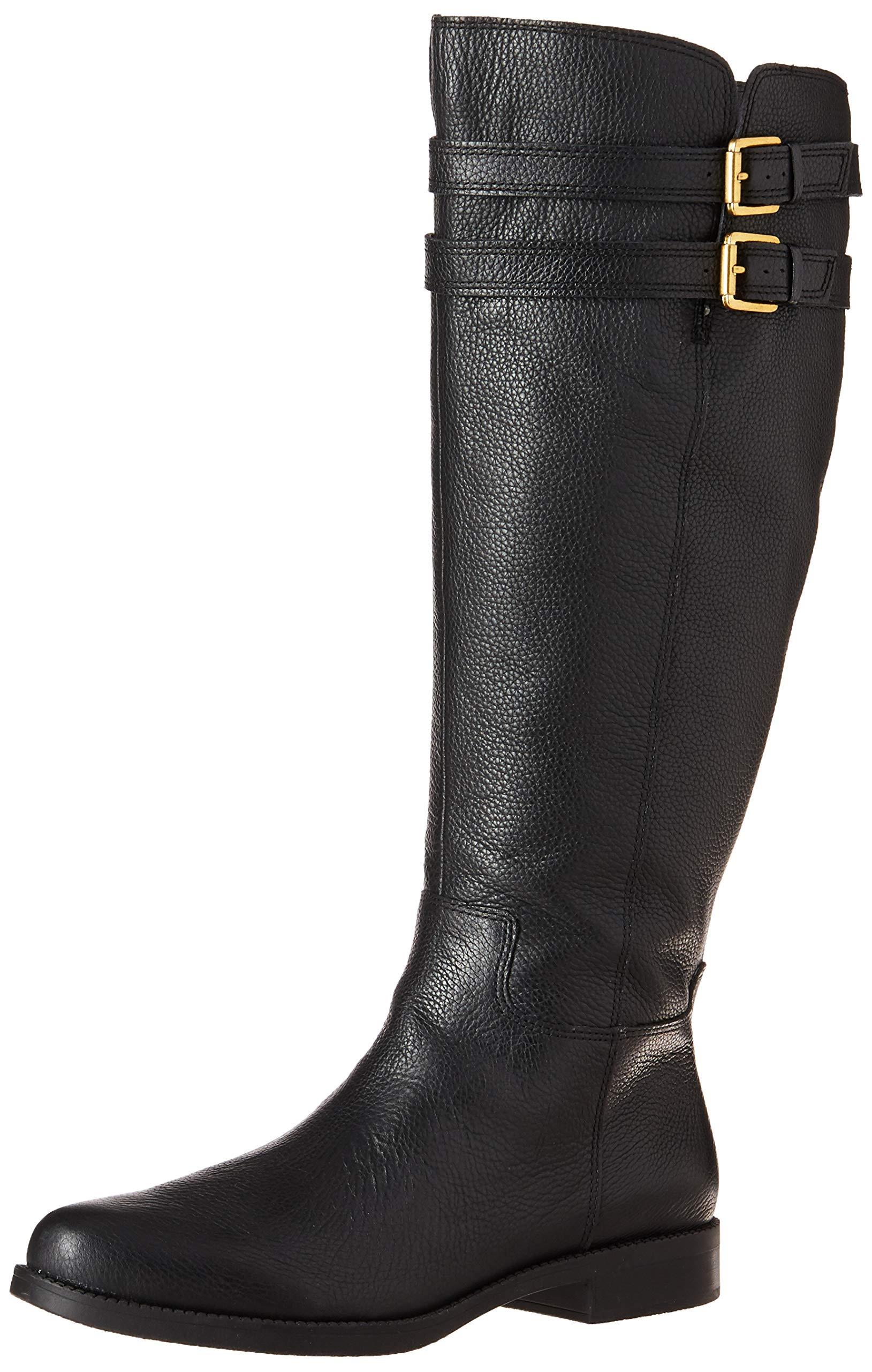 Franco Sarto Women's Christoff Equestrian Boot , Black, 5    M (Wide Calf)