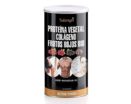 Active Foods Proteína Vegetal, Colágeno y Frutos Rojos - 500 gr