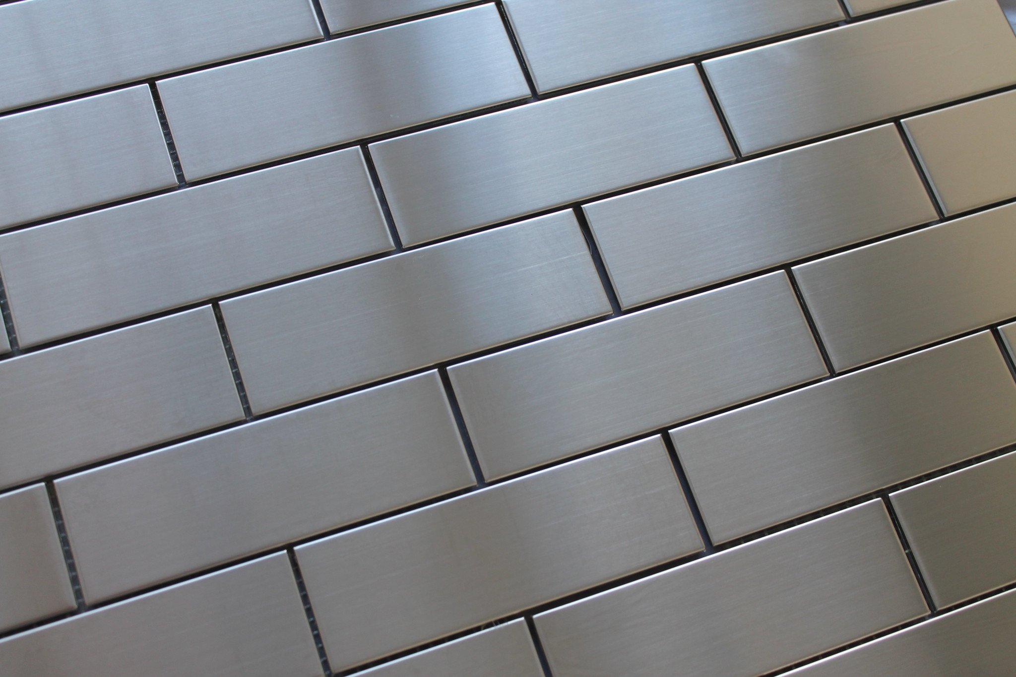 10 Square Feet - Stainless Steel 2x6 Brick Mosaic Tiles