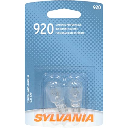 Amazon.com: SYLVANIA 920 Basic Miniature Bulb, (Contains 2 Bulbs): Automotive
