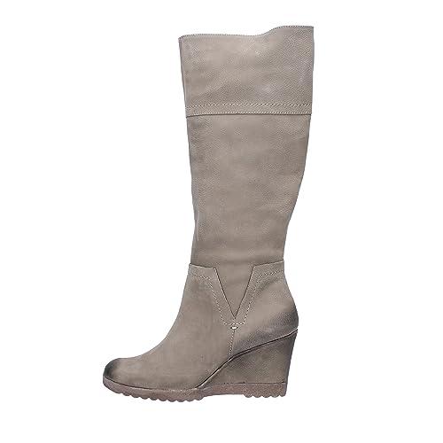 12a6c9c507 Zapatos Mujer KEYS Botas Beige Cuero AJ120 (40 EU)  Amazon.es ...