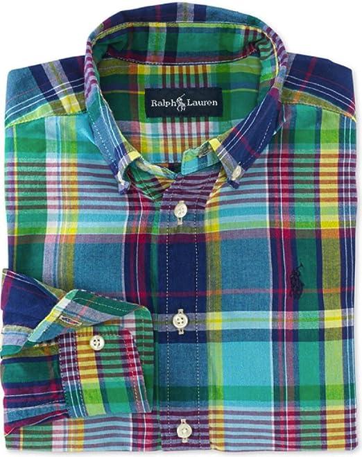 Ralph Lauren niños Blake Madras Button-Down Camisa 2/2T: Amazon.es: Ropa y accesorios