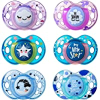 Tommee Tippee Closer to Nature Night Time Toddler Soothie Pacifier, 18-36 Months - 2 Count (DESIGNS WILL VARY)