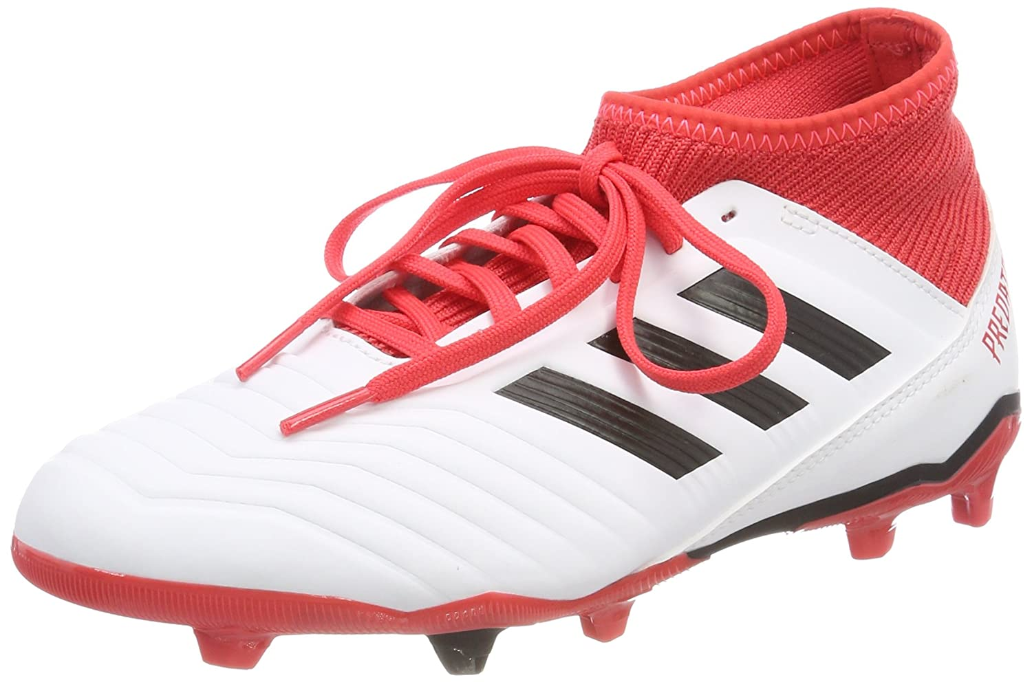22f5fbe89d54 Adidas Boy s Predator 18.3 Fg J White Sports Shoes-4 UK India (36.67 EU)  (CP9011)  Buy Online at Low Prices in India - Amazon.in