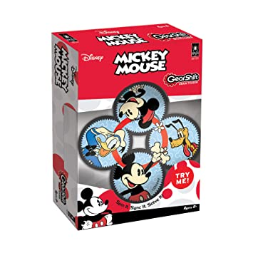 BePuzzled Mickey Minnie Gearshift Puzzle 4 Pieces