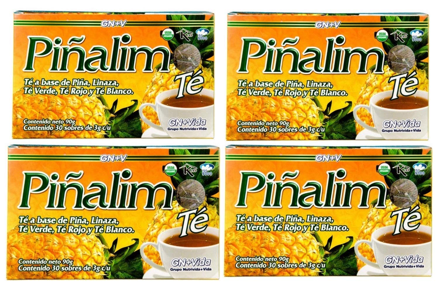 4 Boxes Te Pinalim Tea GN+Vida Weight Loss Tea Diet 120 Day Supply by Standpoint