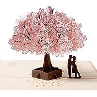 3D Karte, Pop up Hochzeitskarte für die meisten Anlässe, Romantik Faltkarte Grußkarte Valentinstag Karte mit Umschlag