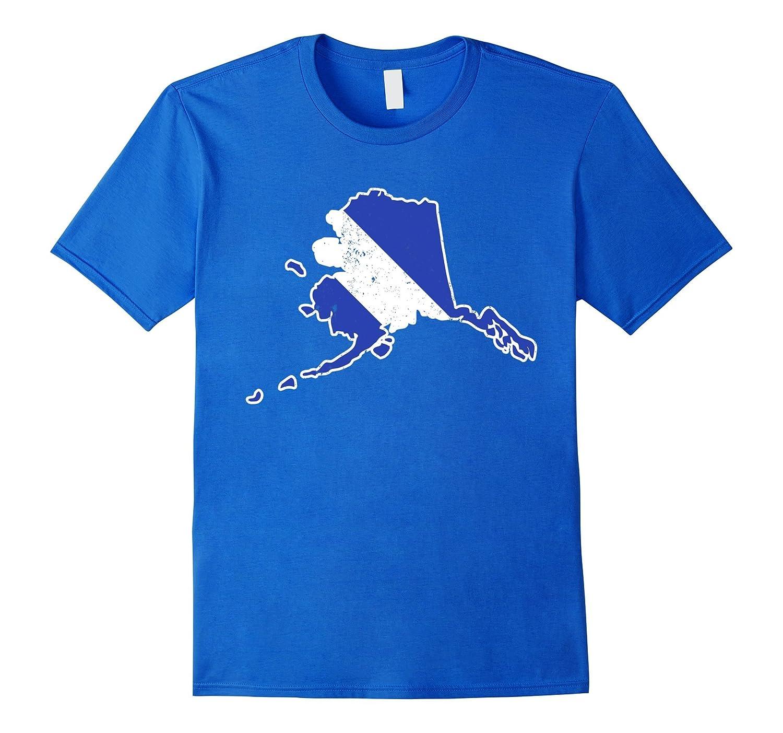 Alaska EMT Paramedic Thin White Line Flag Shirt-TD