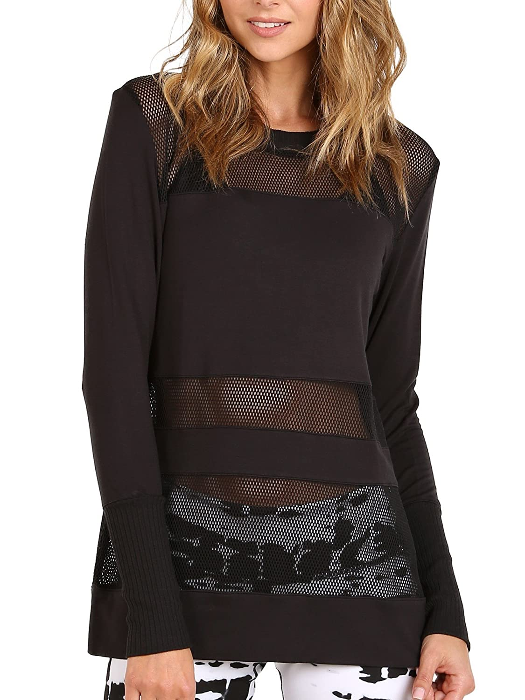 Alo Yoga Plank - Camiseta de Manga Larga para Mujer - Negro ...