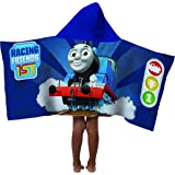 """Mattel Thomas The Tank Engine & Friends 100% Cotton Terry Kid's Hooded 22"""" x 51"""" Towel"""