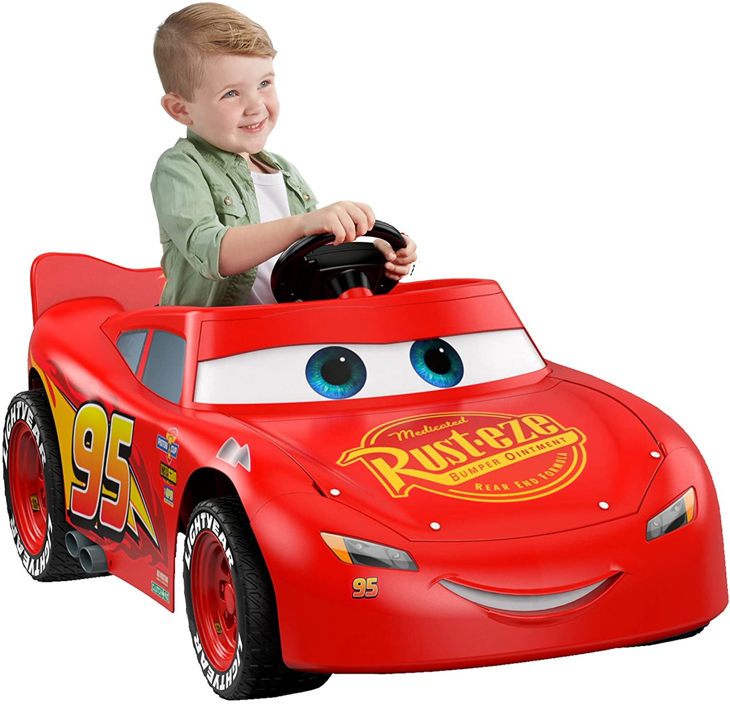 $107.46 Fisher-Price Power Wheels Lightning McQueen Race Car