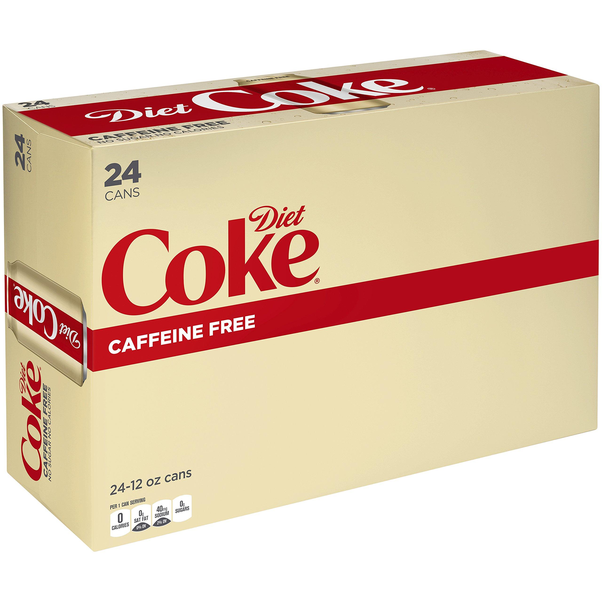 Diet Coke Caffeine Free Soda Soft Drink, 12 fl oz, 24 Pack by Diet Coke