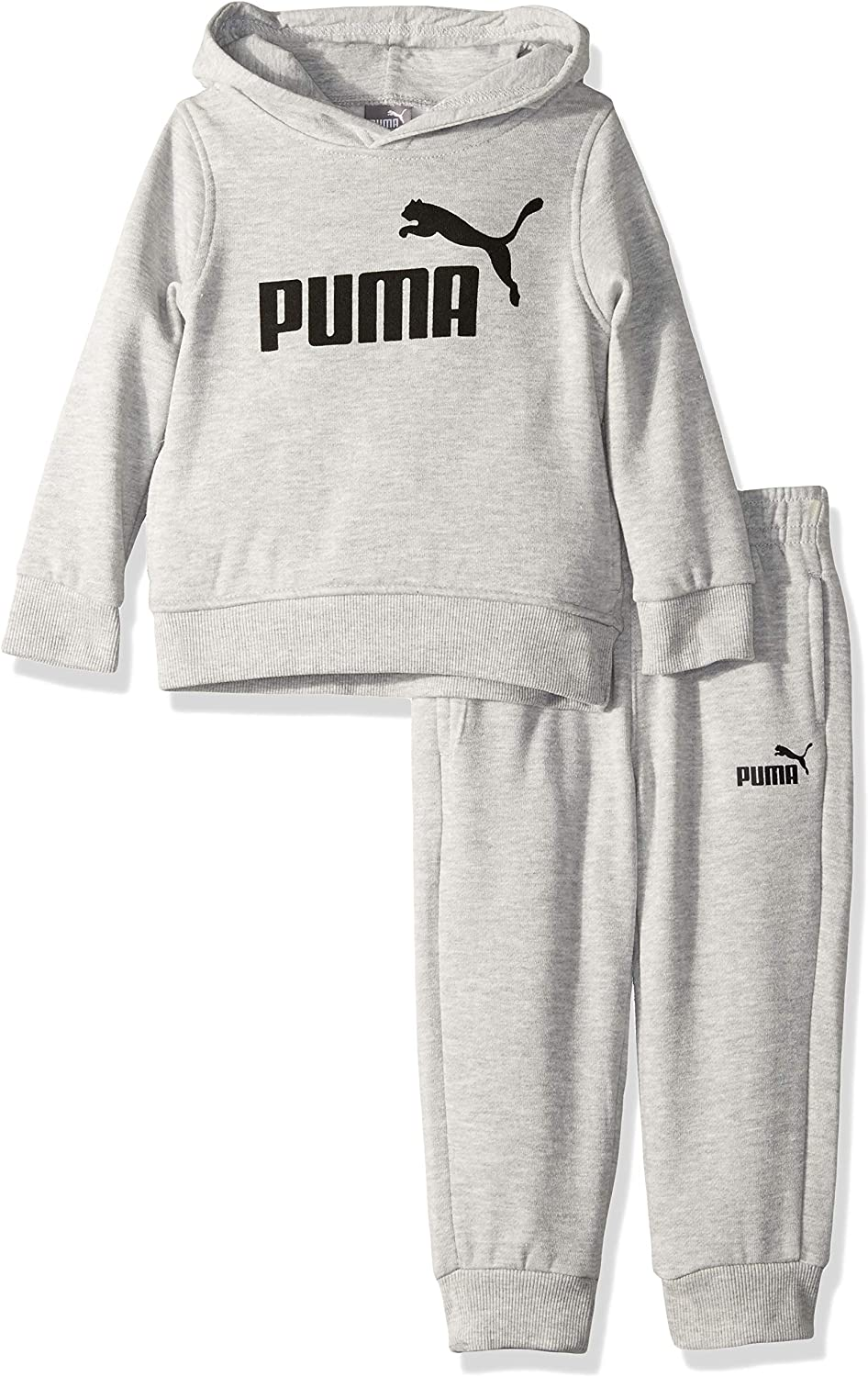 PUMA boys Fleece Pullover Hoodie & Jogger Set