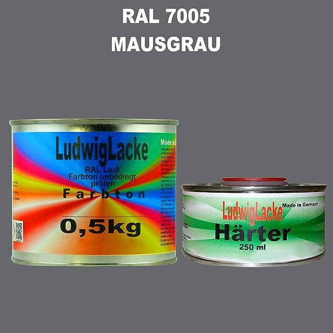 Ral 7005 Mausgrau Acryllack 0 75 Kg Matt Mit Härter Auto