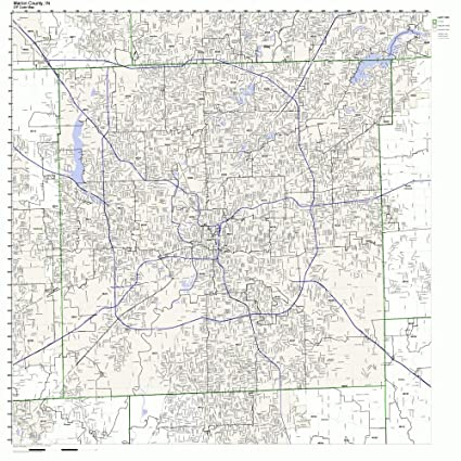 Amazon.com: Marion County, Indiana IN ZIP Code Map Not Laminated