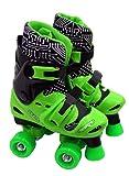 Elektra Adjustable Quad Boot (Medium, Black/ Green)