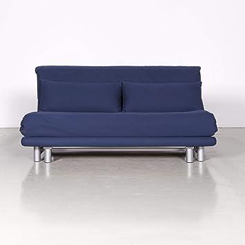 Ligne Roset Multy Designer Stoff Sofa Blau Zweisitzer Schlafsofa
