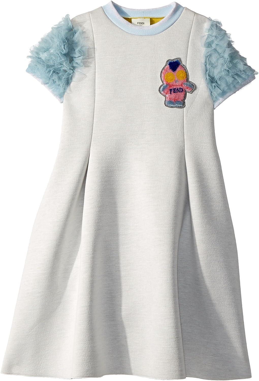 054f59d947 Amazon.com: Fendi Kids Girl's Ruffle Sleeves Dress w/Fendirumi ...
