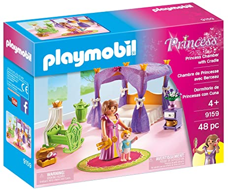 Amazon.com: PLAYMOBIL Princess Chamber with Cradle: Toys & Games
