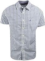 Nautica Mens Short Sleeve Multi Plaid Shirt
