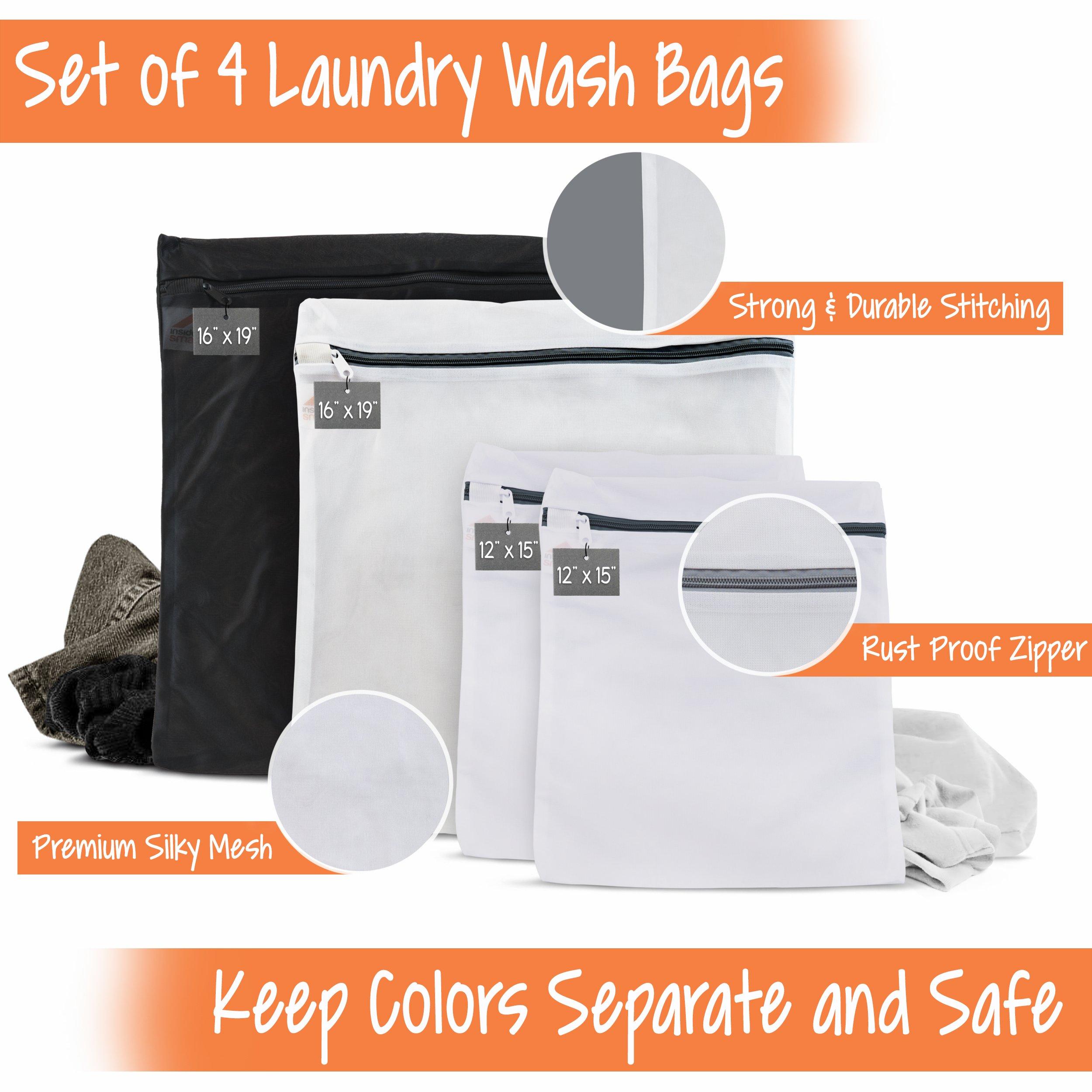 InsideSmarts Delicates Laundry Wash Bags, Set of 4 (2 Medium & 2 Large) by InsideSmarts (Image #2)