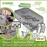 ISOTRONIC Dissuasore a ultrasuoni per topi e ratti repellente scaccia roditori a batteria protezione mobile per giardino casa cantina senza chimici