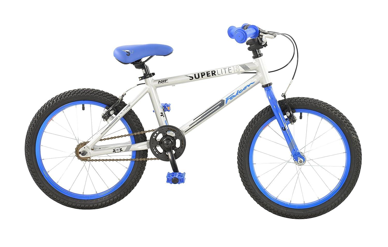 ファルコン少年Superliteバイクシルバーとエレクトリックブルー18 18シルバー&エレクトリックブルー B01N0022DF